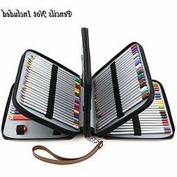 BTSKY160 Slots Colored Pencil Holders Case- Deluxe PU Leathe