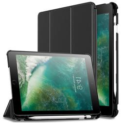 Built-in Apple Pencil Holder Folio Tablet Case Cover For iPa
