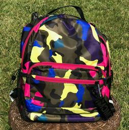 Steve Madden Camouflage Backpack With Pencil Case Nylon NWT