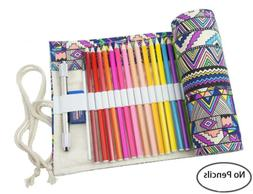 Canvas Pencil Wrap Pencil Pouch Case-72 Colored Pencil Roll