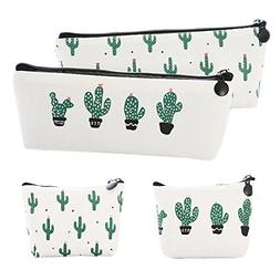 Canvas Student Pencil Case Box Pen Pouch Coin Purse Pouches