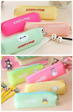 Cartoon Big Hero Baymax Totoro Silicon Cute Pencil Pen Case