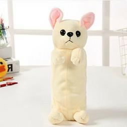 Cartoon Plush Chihuahua Dog Pencil Case Pen Bag Kids School