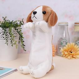 Cartoon Plush Dog Pencil Case Kids Cute School Supplies Stat