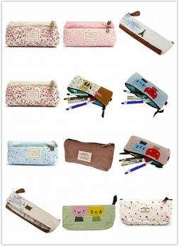 Cartoon Student Pen Pencil Case Portable Pouch Makeup Bag St
