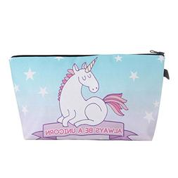 Cartoon Unicorn Hand Bag, 3D Printed Toiletry Makeup Pouch,