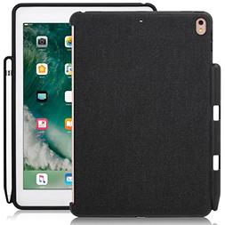 LUVVITT Case for iPad 9.7 Back Cover with Pencil Holder Comp