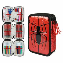 case with accessories Marvel Spider-Man Giotto triple pencil