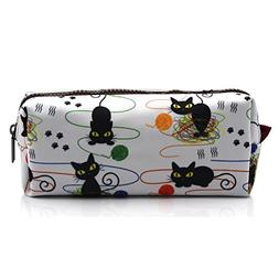 Cat Pencil Case Cats and Yarn Knitting Notion Pouch Kitten M