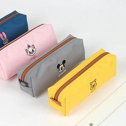 Disney Character Embroidery Pencil Case Cute Pen Pouch Bag S