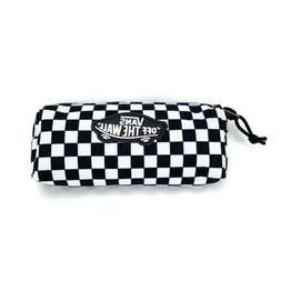 VANS Checkerboard Canvas Carry Case Zipper Pencil Pouch Blac