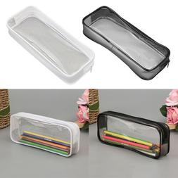 Clear Pen Pencil Case Stationery Cosmetic Makeup Pouch Bag Z