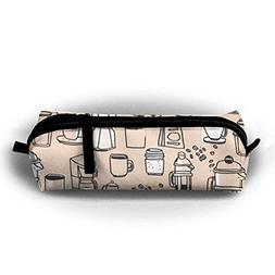 coffee beans pencil pen case bag stationery