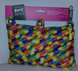 ZIPIT Colorz 3-Ring Pencil Case, Zipmode. Colorz. New with T