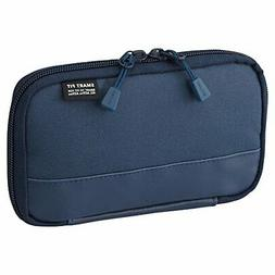 Compact Pen Case Pencil Case Water & Stain Repellent Navy 3.