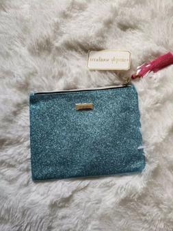 Simply Southern Cosmetic Turquoise Make-Up Brush Bag or Pen,