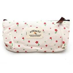 Countryside Flower Floral Pencil Pen Case Cosmetic Makeup Ba