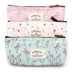 NiceWave Countryside Flower Floral Pencil Pen Case Cosmetic