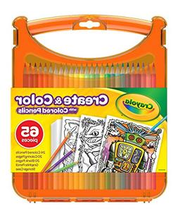Crayola Create & Color with Colored Pencils, Travel Art Set,