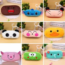 Cute Cartoon Soft Plush Pencil Pen Case Makeup Cosmetic Pouc