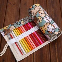 Cute Cat Cometary Roll Pencil Case Stationery Pouch School F