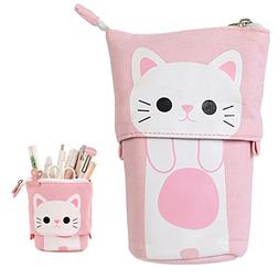 Cute Cat Pencil Holder Canvas Case School Supplies Pouch Ide