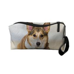 TropicalFAS Cute Corgi Travel Jewelry Pouch For Women Cosmet