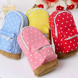 Cute Mini Canvas Backpack Pencils Bag Pencil Cases Pen Cosme