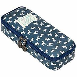 Cute Pencil Case - High Capacity Floral Pouch Stationery Org