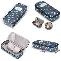 BTSKY Cute Pencil Case High Capacity Floral Pouch Stationery