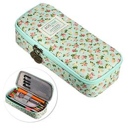 BTSKY Cute Pencil Case - High Capacity Floral Pencil Pouch S