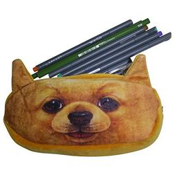 Cute Pencil Case, Adorable Cats or Dogs. Super Soft Plush Po