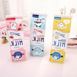 Cute Pencil Case Creative Milk Pencil Bag For Kids Novelty I