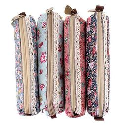 Golf Fashion Set of 4 Cute Sweety Floral Pen Pencil Bag Case