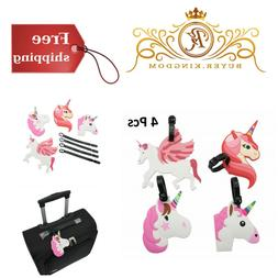 Mziart Cute Unicorn Luggage Tags for Kids Women Girls Travel