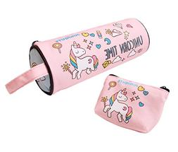 Cute Unicorn Time Pencil Case and Coin Purse, Rainbow Unicor