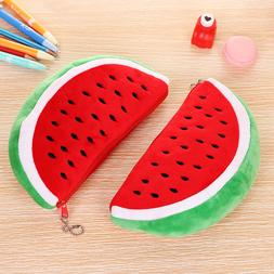 Cute Watermelon Pencil Case Cosmetics Wallet  Holder  Pouch