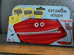 Cute ZIPIT Monsters Pouch Pencil Case Red UPC 812800018891