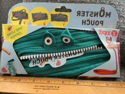 Cute ZIPIT Monsters Pouch Pencil Case Turquoise Blue Green U