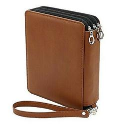 BTSKY® Deluxe PU Leather Pencil Case For Colored Pencils -