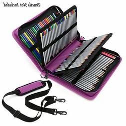 BTSKY Deluxe PU Leather Pencil Case For Colored Pencils - 16