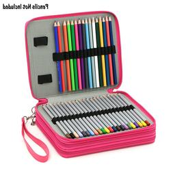BTSKY Deluxe PU Leather Pencil Case For Colored Pencils - 12