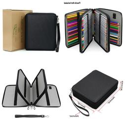 BTSKY Deluxe PU Leather Pencil Case For Colored Pencils 120