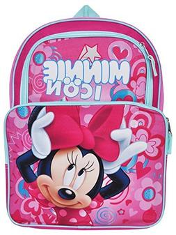 """Disney Minnie Mouse 16"""" Cargo Backpack Bag with Pencil Case"""