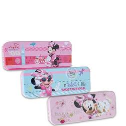 Disney Minnie Mouse Tin Pencil Case for Markers, Pencils, Cr