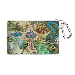 Disneyland Colorful Map Canvas Zip Pouch - XL Canvas Pouch 1