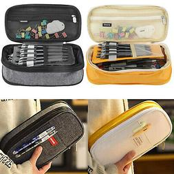 Double Layer Big Capacity Pen Box Pencil Case Stationery Bag