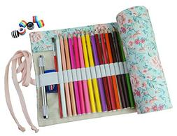 CreooGo Canvas Pencil Wrap, Travel Drawing Pencil Roll Organ