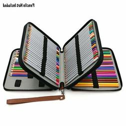 Durable Leather Pencil Case For Colored Pencils - 120 Slot P