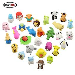 Easter Day Gifts, 30 Pack Premium Novelty Animal Erasers Col